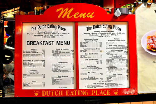 Dutch Eating Place - Reading Terminal Market - Philadelphia
