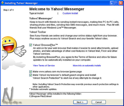 Pasul 1: Welcome to Yahoo Messenger