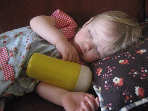asleep in ice cream dress