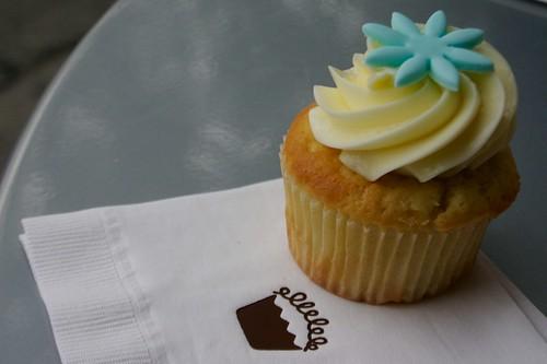 meyer lemony cupcake filled with lemon curd