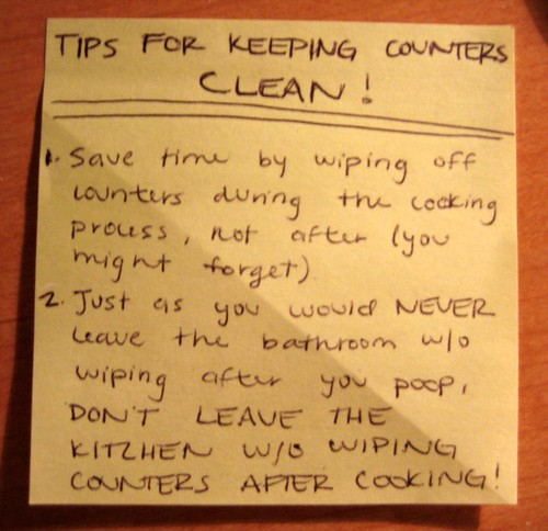 Tips for keeping counters clean!
