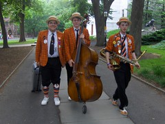 Three-Piece Band (Joe Shlabotnik) Tags: bass princeton saxophone 2007 reunions faved princetonband june2007 mccoshwalk reunions2007