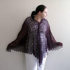 rose trellis shawl 7
