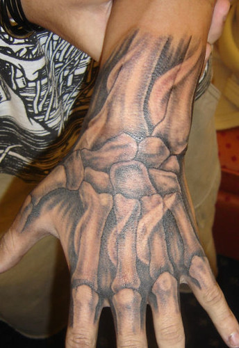 muscle tattoos. done hand anatomy tattoo