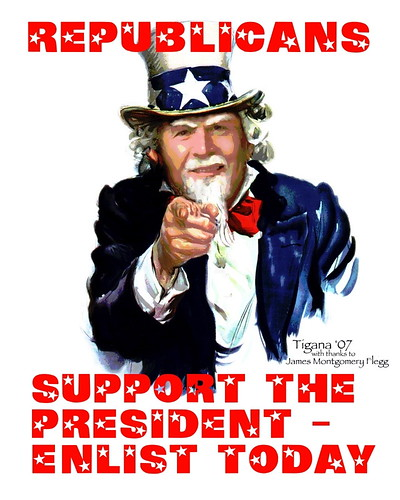 Republicans - Support the President, Enlist Today