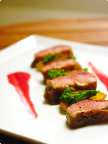 Seared Duck Breast with Raspberry <span class=
