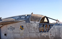 (shadowplay) Tags: abandoned jet cockpit mojave airforce northedwards