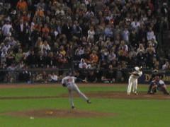 Bonds NOT hitting a homerun (rachelublue) Tags: baseball giants bonds