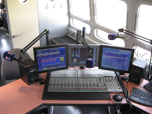 Inside the Virgin Radio Airstream studio