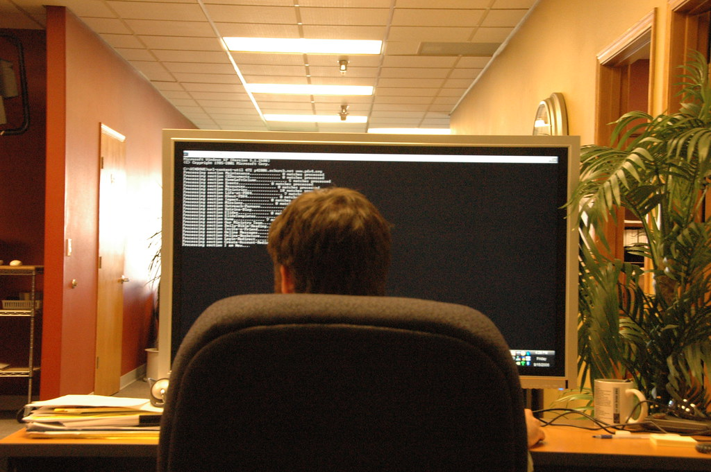 Command Prompt on a BIG monitor