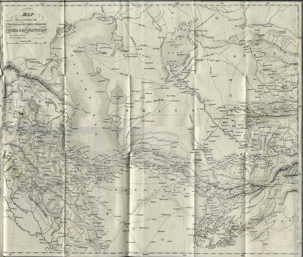 1856 map of Persia and Afghanistan