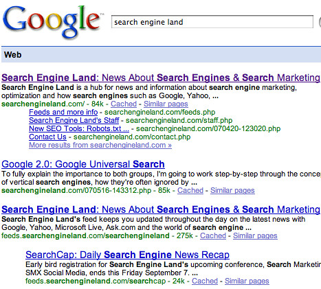 RSS Feeds in Google: Search Engine Land