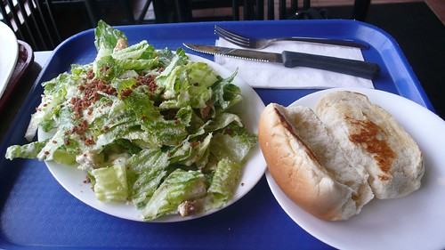 Photo review by ciacia HER:  Caesar salad & Garlic Bread