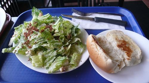 Photo review by ciacia HER:  Caesar salad & Garlic Bread