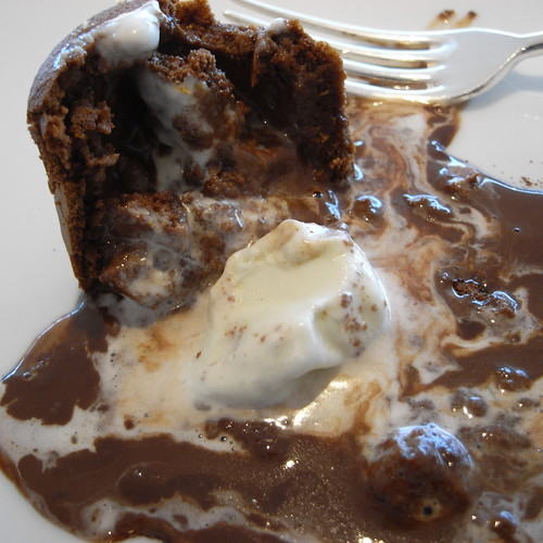 Mixture of chocolate and Tea-icecream