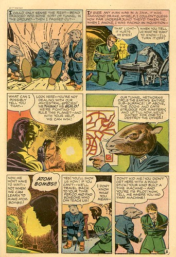 The Last Enemy comic book scans drawings by Jack Kirby Time Traveler captured by talking rats
