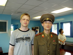 Myself and a DMZ soldier (The Real Jeku) Tags: northkorea dprk