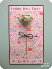 shabby teapot pin topper new colors (Pinks & Needles (used to be Gigi & Big Red)) Tags: rose teapot shabby crafting365 gigiminor pinksandneedles pintoppers pintopper pinksneedles day149365