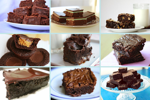 brownies and bars collage brownies