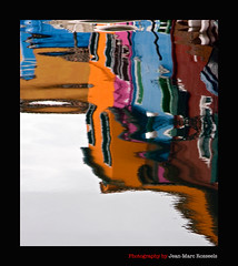 Narcissistic (jean-marc rosseels) Tags: pink blue italy orange color canon reflections mirror burano narcissistic