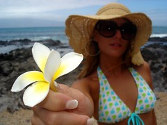 (lutty moreira) Tags: ocean sea woman flower beach hat female hawaii maui bikini sunglass wwwluttyphotocom