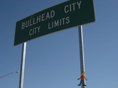 Flat Stanley in Bullhead City, Arizona. (04/07)