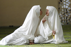 sisters in a mosque