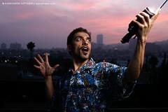 Self-portrait (Konstantin Sutyagin) Tags: sunset portrait man umbrella dramatic strobist