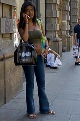 A Milanese girl (yanivba) Tags: italy milan boobs milano smoke babe chick belly bellybutton