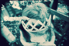 I'll be your star (Lá caitlin) Tags: blue film girl vintage children kid child negative fairy crown oustide infantportrait