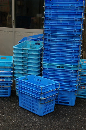 blue baskets