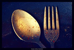 Beauty of Grunge (Evelyn Arthur Richman) Tags: kitchen 1025fav silverware grunge fork spoon dirty dirt leftovers morbid dishes filth soe cutlery soiled flatware cookery dirtiness filthiness 25faves p1f1 aplusphoto favemegroup5 wowiekazowie excapture