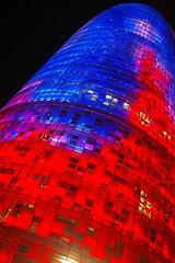 Torre Agbar - Barcelona (pikadilly) Tags: barcelona night noche spain torre espana espagne nuit barcelone agbar