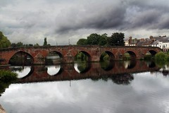 Devorgilla bridge over the river nith at dumfries colour (robbyuk/) Tags: uk bridge sunset sky fish seascape reflection tree water beautiful rural canon river landscape scotland town fishing scenery flood country scenic salmon scene hills trout hdr seatrout annan dumfries galloway angling davidrobinson nith rnbnith robbyuk