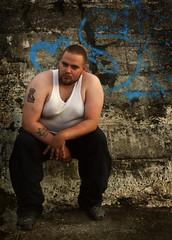 One fat man (ljosberinn) Tags: graffiti reykjavík öskjuhlíð wifebeater alli bigmen aðalsteinn ilikecomments bánsafrændi