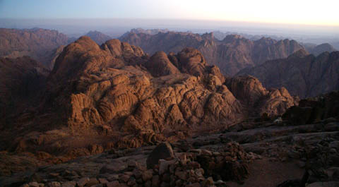 mount sinai egypt sunrise view