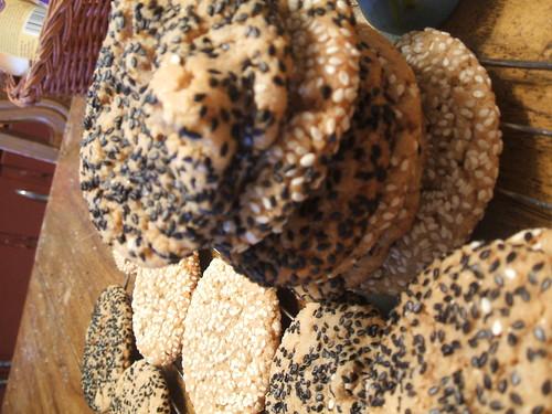 Peanut Ginger Sesame Cookies