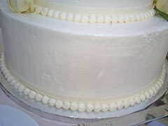 Closeup of Wedding Cake from Layers in Monterey, CA