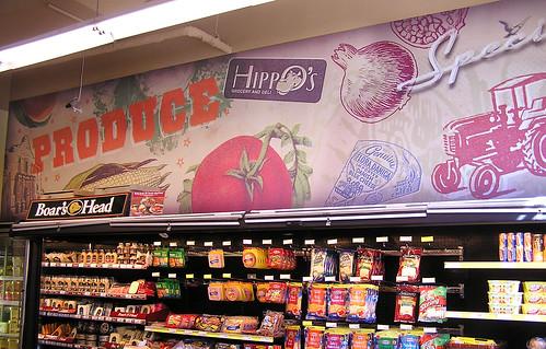 Hippo's Deli Produce Wall