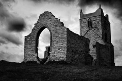 Church on the Mump (torimages) Tags: clouds glastonbury atmosphere somerset sd allrightsreserved burrow cloudyday somersetlevels mump bestofbw donotusewithoutwrittenconsent copyrighttorimages