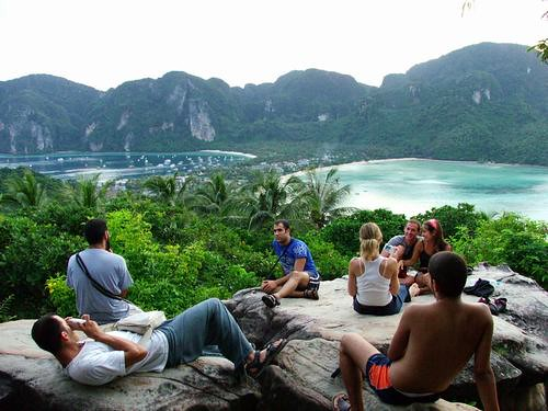 The Viewpoint looking over Koh Phi Phi