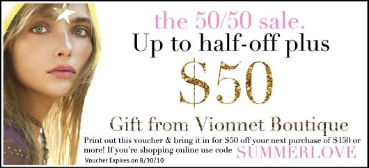 Vionnet Boutique Sale