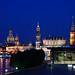 Dresdner Altstadtsilhouette bei Nacht