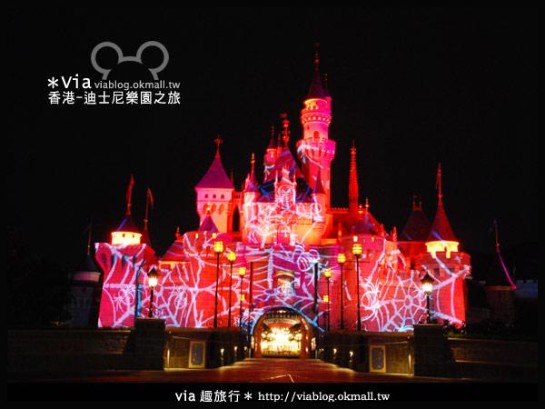 【香港旅遊】跟著via玩香港(2)~迪士尼萬聖節夜間遊行超精彩!22