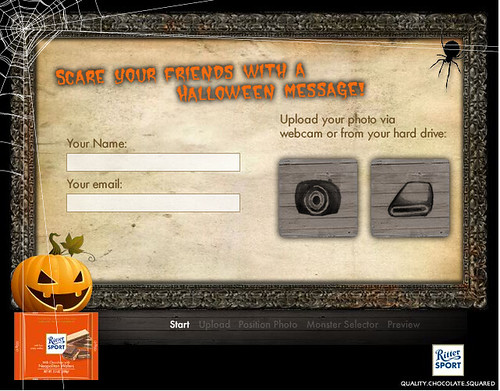 RITTER SPORT Halloween Gruß-Karte - Formular