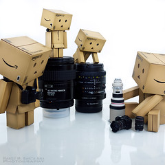 117/365: Taking Stock and Comparing Gear. (Randy Santa-Ana) Tags: camera canon toys nikon lenses danbo nikon60mm nikon50mm danboard 365daysofdanbo 16scalecamera