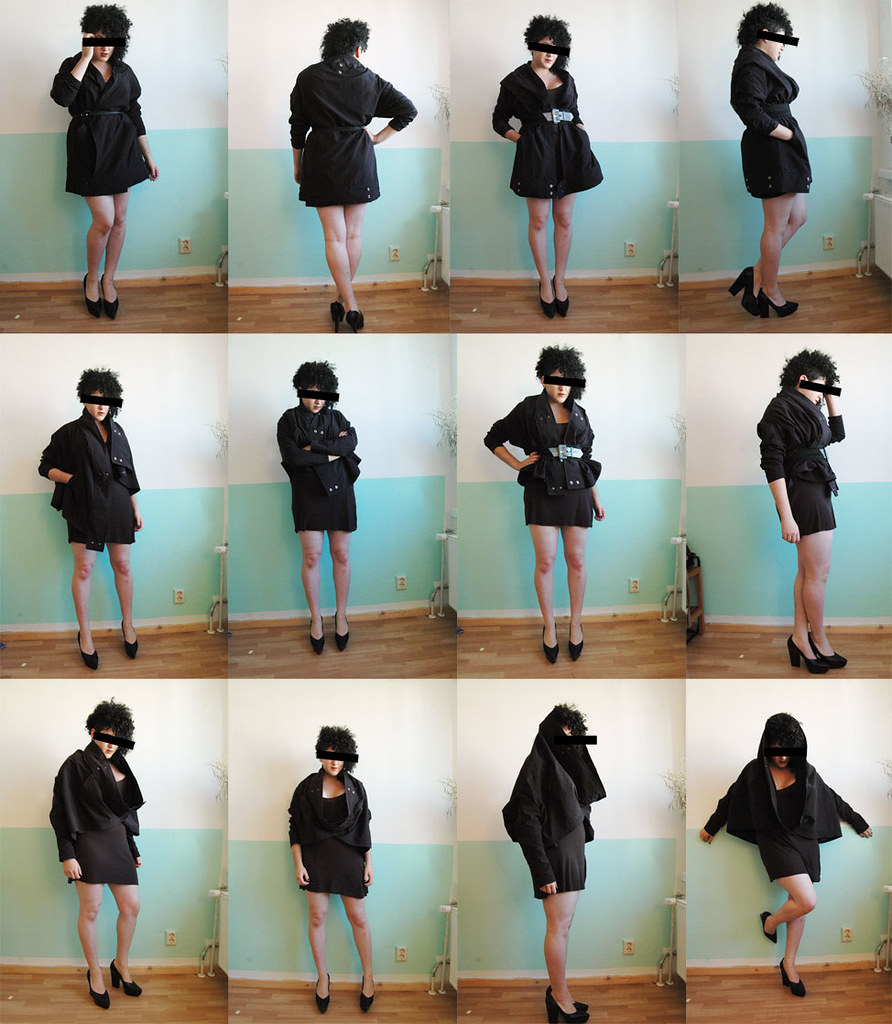 Harputs Market multifunctional jacket SWACKET worn by GARBAGE DRESS