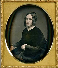 Lady with Side Curls, 1/6th-Plate Daguerreotype, Circa 1851 (lisby1) Tags: portrait fashion century vintage photography early 19thcentury 1800s victorian tintype ambrotype daguerreotype geneology 19th earlyphotography nineteenthcentury