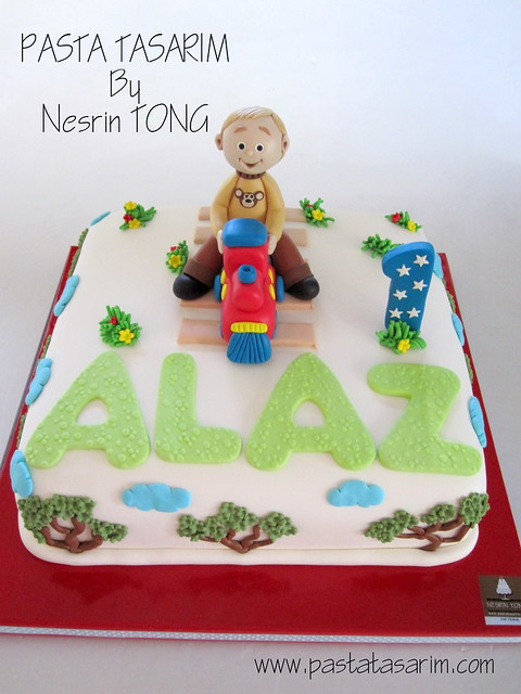 1ST BIRTHDAY CAKE - ALAZ (TRAIN)