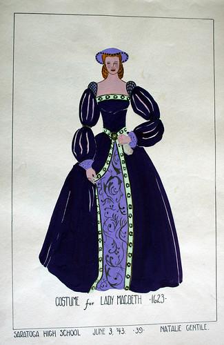 Costume For Lady MacBeth 1623